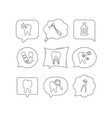 tooth stomatology and toothache icons vector image
