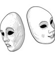 two theatre mask vector image