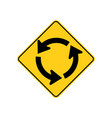 usa traffic road signs circular intersection vector image vector image