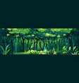 wild dark jungle background landscape vector image vector image