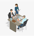 workers do job business-themed vector image vector image