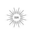linear simple gray sun logo vector image