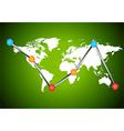 Chart earth vector image