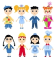 Set of profession cartoon characters vector image