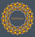 beautiful color mandala on a dark blue vector image