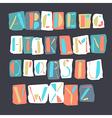 Cartoon alphabet retro vector image