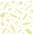 seamless pattern branches vector image
