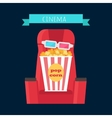 Cinema Objects Set Isolated Movie Entertainment vector image