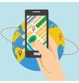 Mobile App Navigation vector image