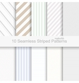 10 Seamless striped patterns vector image vector image
