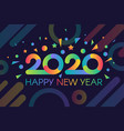 2020 new year banner template vector image