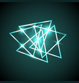 abstract background with green neon triangles vector image vector image