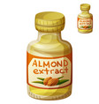 almond extract isolated on white background vector image vector image