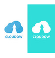 arrow up and cloud logo combination vector image vector image