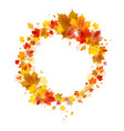autumn wreath vector image vector image