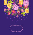 background with pretty flowers vector image vector image