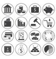 Basic Money Icons Collection vector image vector image