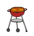 bbq grill isolated on a white background vector image