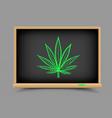 blackboard hemp drug lesson vector image vector image