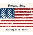 brochure poster templates in veterans day vector image vector image