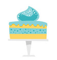 cake on a cake stand cartoon vector image vector image