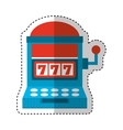 Casino slots machine icon vector image vector image