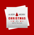 christmas card with red background vector image