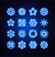 christmas neon snowflakes blue magic vector image vector image