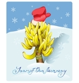 Christmas tree made of bananas vector image vector image