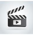 Cinema film clapper board vector image vector image