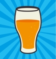 Cold and delicious beer vector image vector image