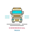 Commercial truck concept vector image