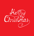 congratulation merry christmas on a red vector image