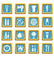 cosmetics icons set sapphirine square vector image vector image