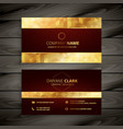 dark red and gold business card design vector image vector image