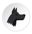 Doberman dog icon flat style vector image vector image