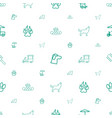 dog icons pattern seamless white background vector image vector image