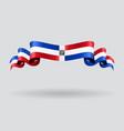 Dominican Republic wavy flag vector image