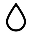 drop icon black color icon vector image vector image