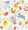 easter seamless pattern holiday background vector image vector image