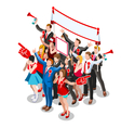Election Infographic Crowd Conference Isometric vector image vector image