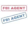 fbi agent textile stamps vector image