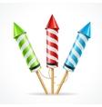 Fireworks rocket set vector image vector image