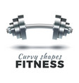 fitness gym logo vector image vector image