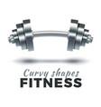 fitness gym logo vector image