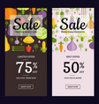 flat vegetables vegan shop sale flyer vector image