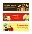 Germany travel banner set vector image vector image
