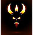 Glowing silhouette of the devil vector image