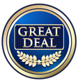 Great Deal Blue Label vector image