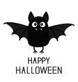 happy halloween bat vampire cute cartoon baby vector image vector image